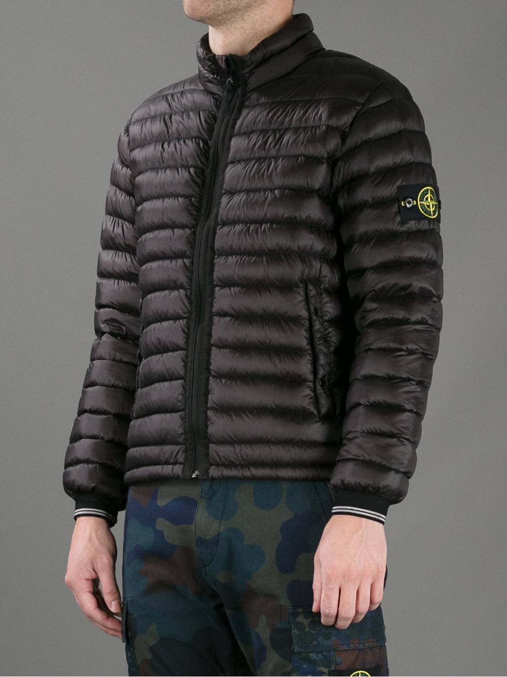 Stone Island Dyed Down Padded Jacket In Black For Men Lyst
