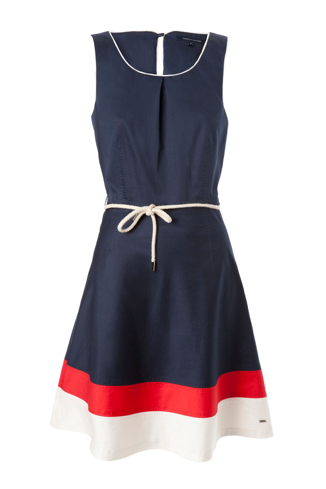 Tommy Hilfiger Dessie Colorblock Sleeveless Dress In Blue