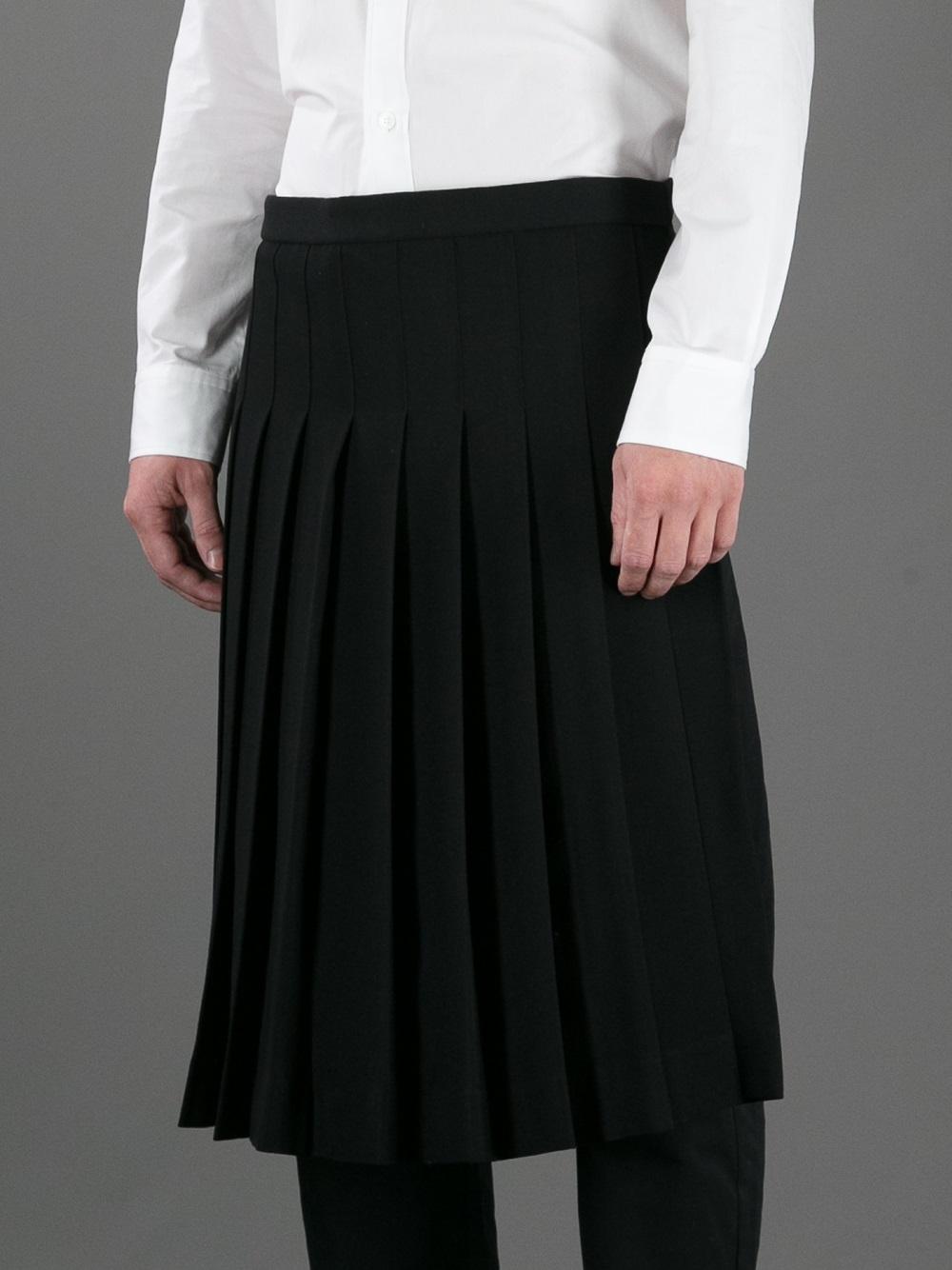 Lyst Yohji Yamamoto Pleated Apron Skirt In Black For Men