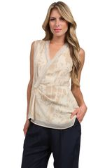 3.1 Phillip Lim Draped Wrap Chiffon Overlay Top - Lyst