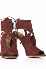 Aquazzura Sexy Thing Suede Sandals - Lyst