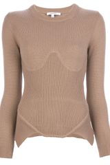 Carven Knit Side Peplem Sweater - Lyst