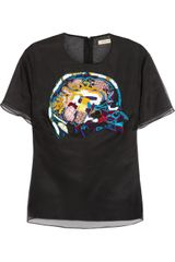 Christopher Kane Brainembroidered Silkorganza Top - Lyst