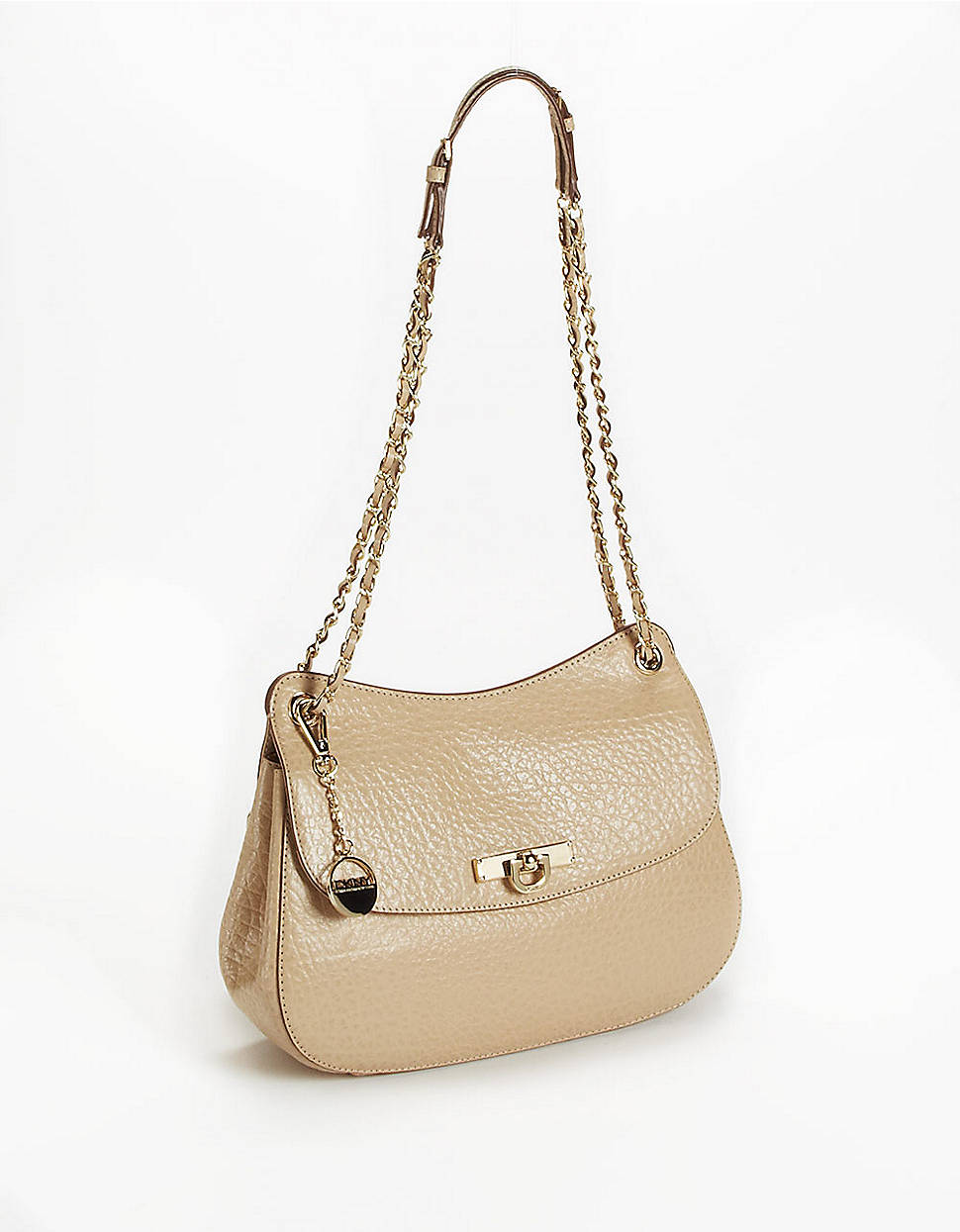 dkny beekman leather crossbody flap bag in beige sand lyst