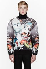 Juun.j Grey Ombre Neoprene Tiger and Cockatoo Turtleneck - Lyst