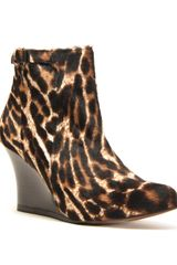 Lanvin Wedge Ankle Boot - Lyst