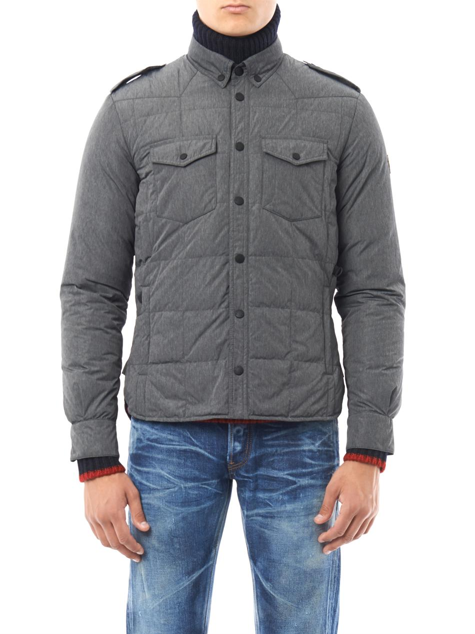 Moncler Grenoble Vallandry Button Down Jacket In Gray For