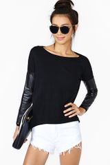 Nasty Gal Tough It Out Knit Black