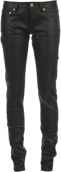 Saint Laurent Coated Skinny Jeans - Lyst