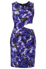 Topshop Limited Edition Iris Print Wrap Shift Dress - Lyst