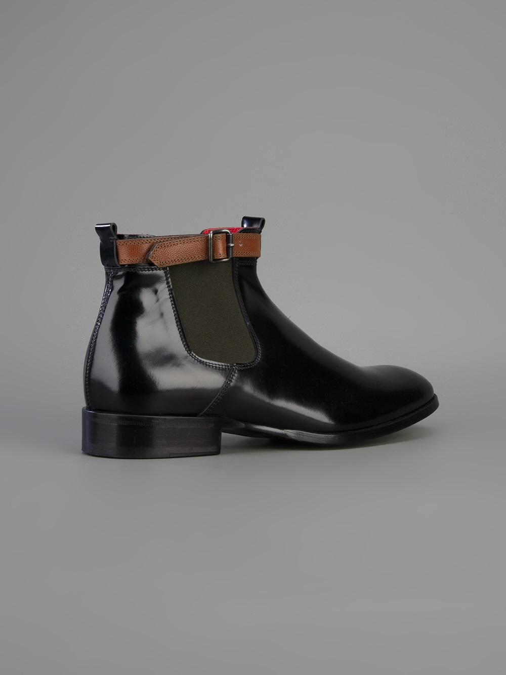 Alexander Mcqueen Buckled Chelsea Boots In Black For Men