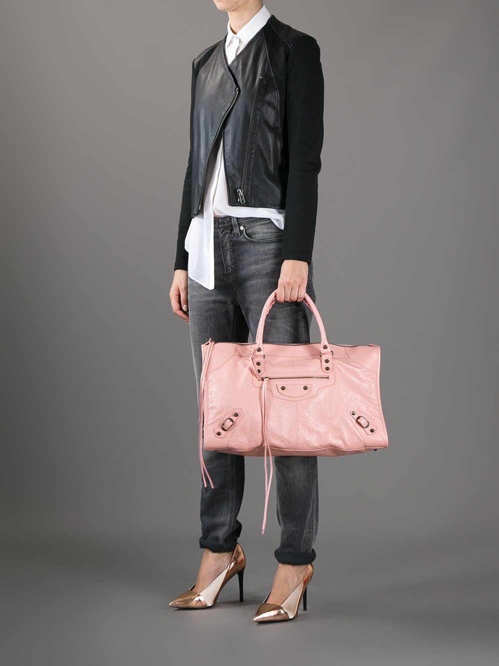 Balenciaga Classic Work Tote in Pink | Lyst