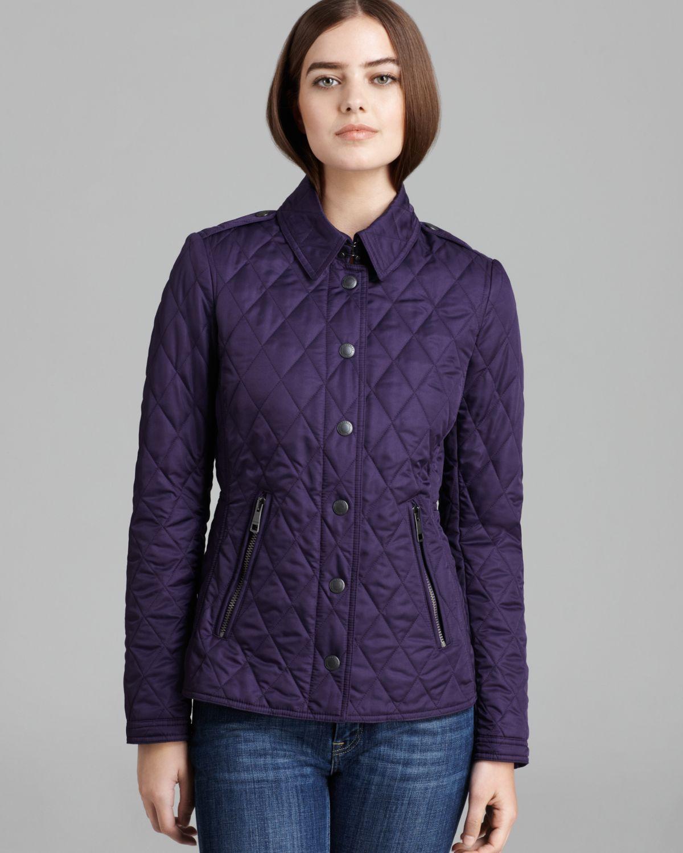 Burberry Brit Moredale Quilted Jacket In Purple Regency