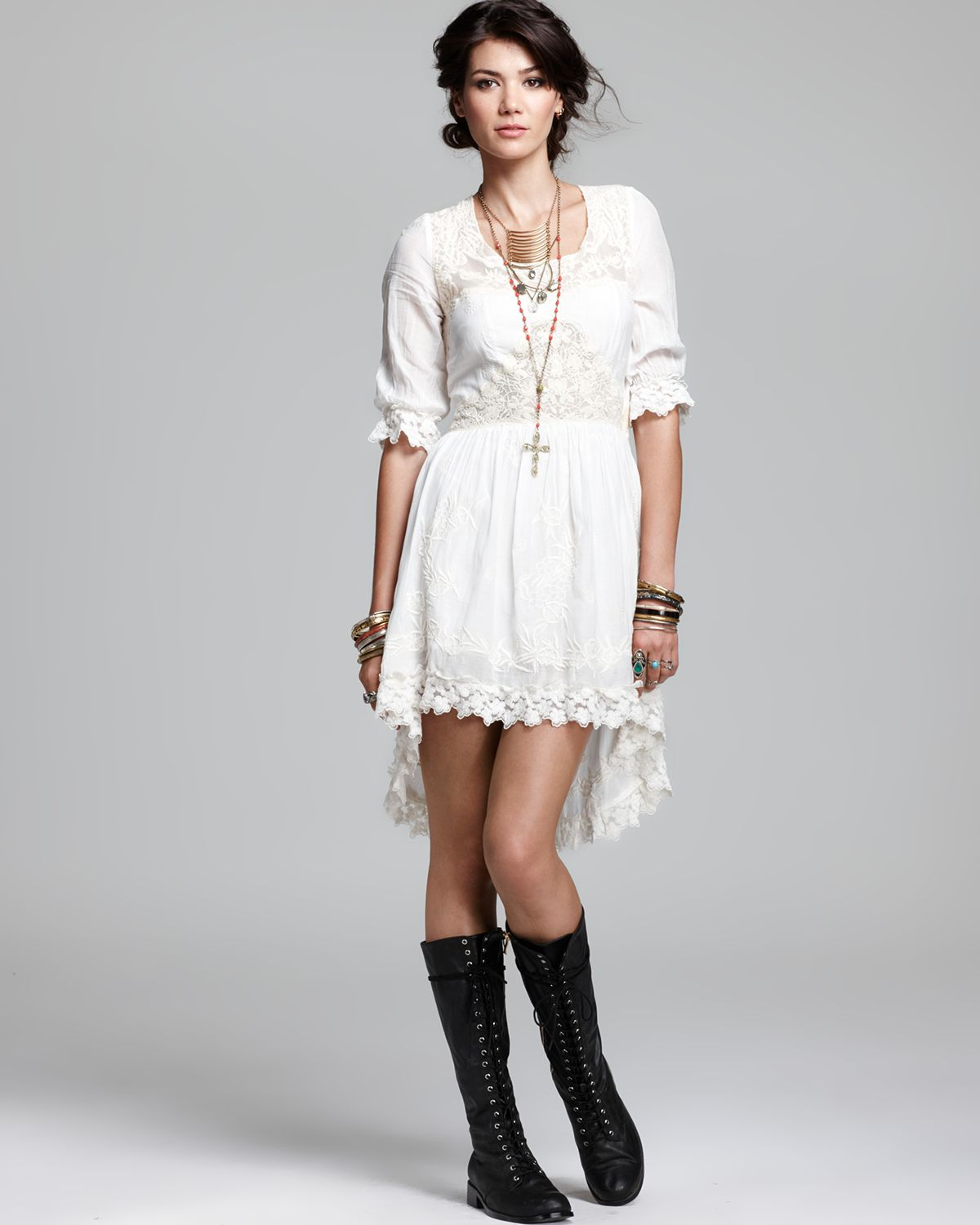 431717d56e921 Lyst - Free People Dress India Crinkle Montana in White