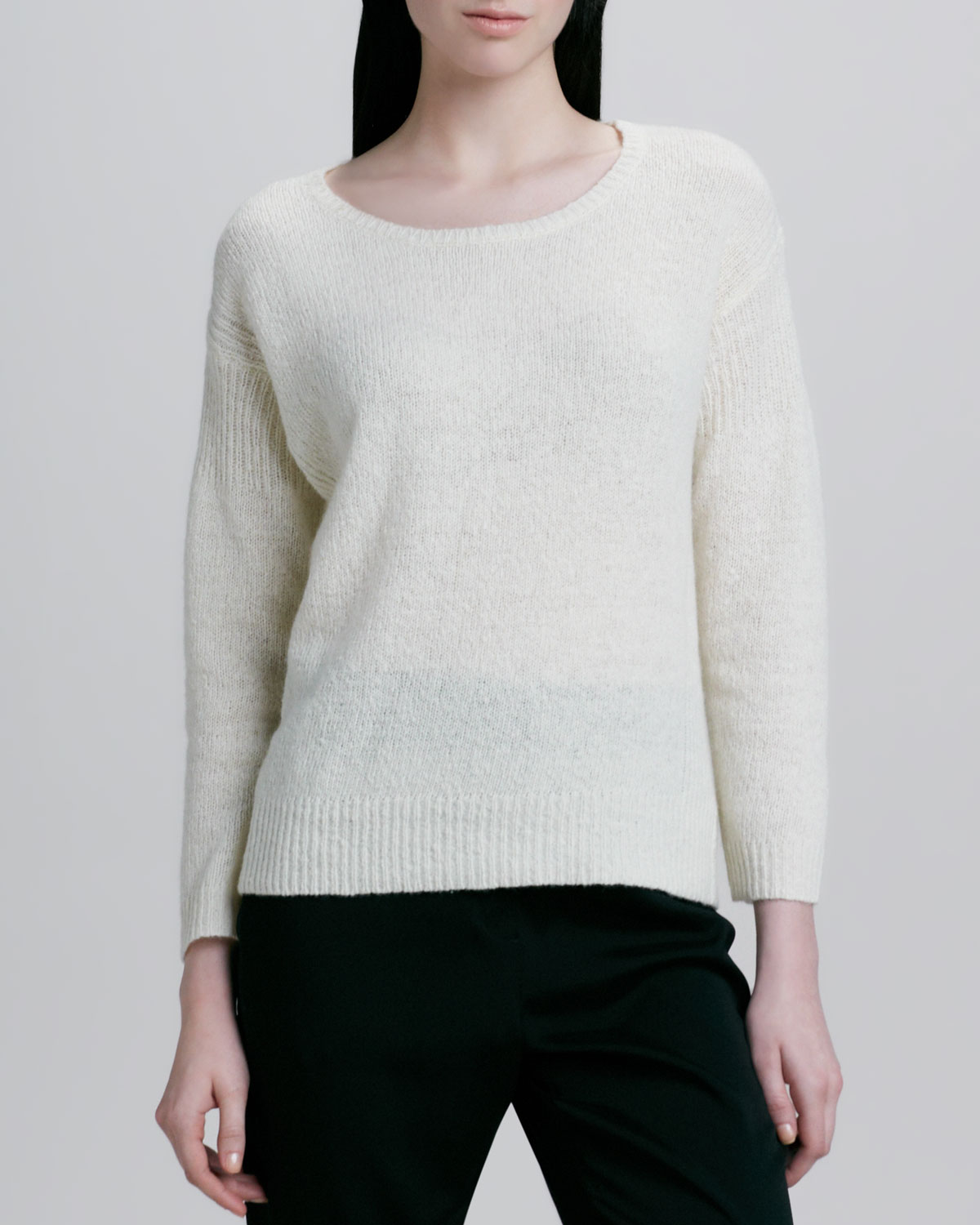 Halston Pullover Sweater in Natural | Lyst