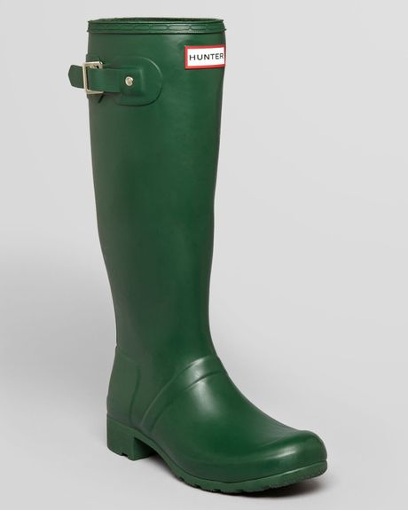 Hunter Rain Boots Original Tour Packable In Green Lyst