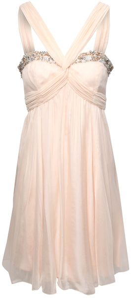 Jane Norman Silk Embellished Prom Dress - Lyst