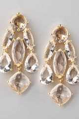 Kate Spade Statement Earrings Clear - Lyst