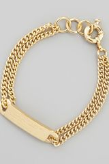 Marc By Marc Jacobs Chain Loop Standard Supply Bracelet Golden - Lyst