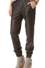 Rag & Bone Leather Pajama Pants - Lyst