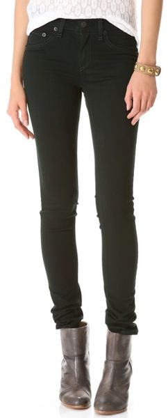 Rag & Bone The Plush Twill Legging Jeans - Lyst