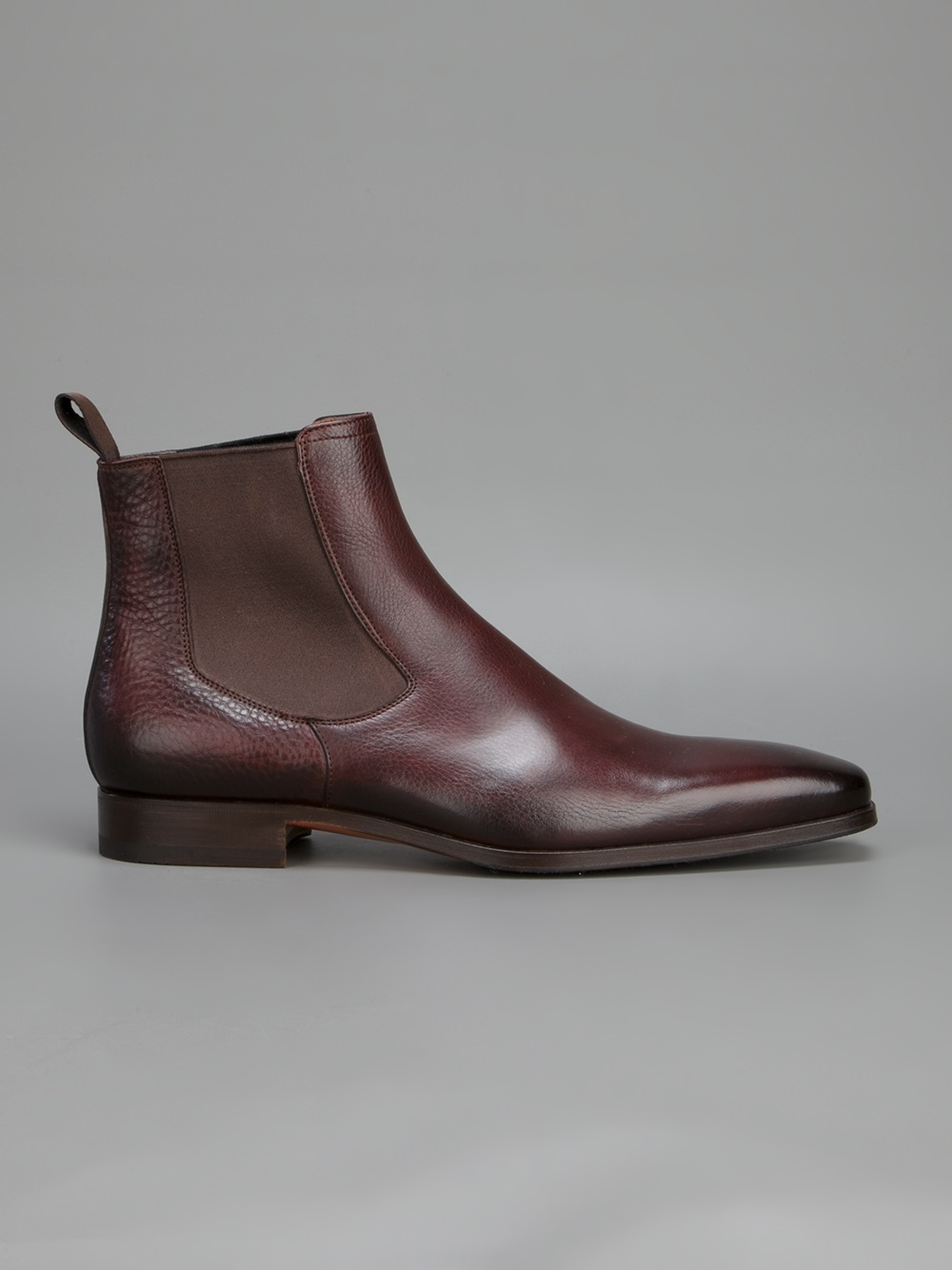 Boots leather brown Santoni