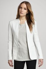 Theory Tamler Open Leather Blazer - Lyst