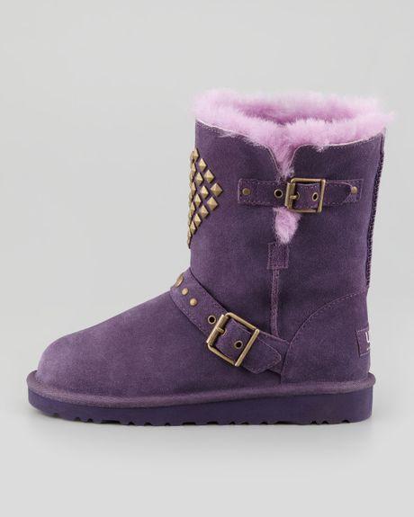 Ugg Adrianna Studded Heart Boot Purple Velvet In Purple