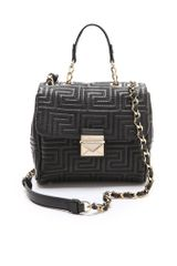 Versace Leather Quilted Cross Body Bag - Lyst