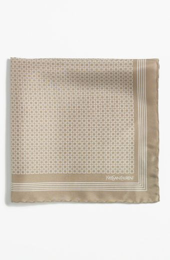 Yves Saint Laurent Silk Pocket Square - Lyst