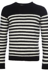 Ami Striped Crew Neck Sweater - Lyst