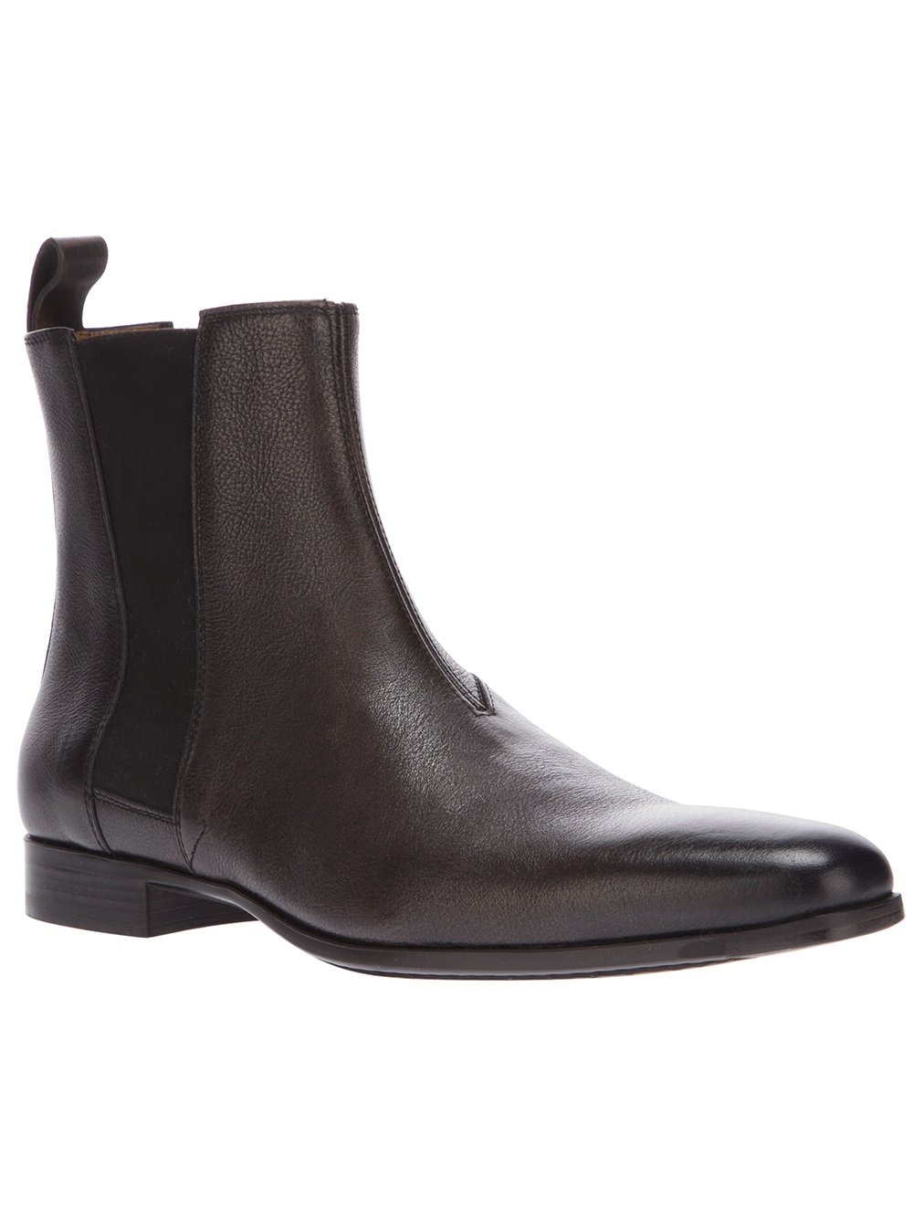 Santoni Chelsea Boot In Black For Men Brown Lyst