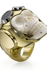 Theo Fennell Lost Flyer Skull Ring - Lyst