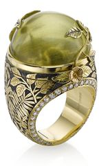Theo Fennell Green Beryl Rainforest Opening Ring - Lyst