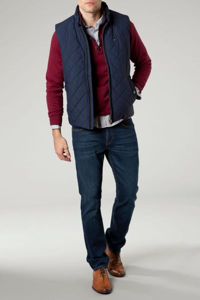 Tommy Hilfiger Quilted Browning Vest In Blue For Men Lyst