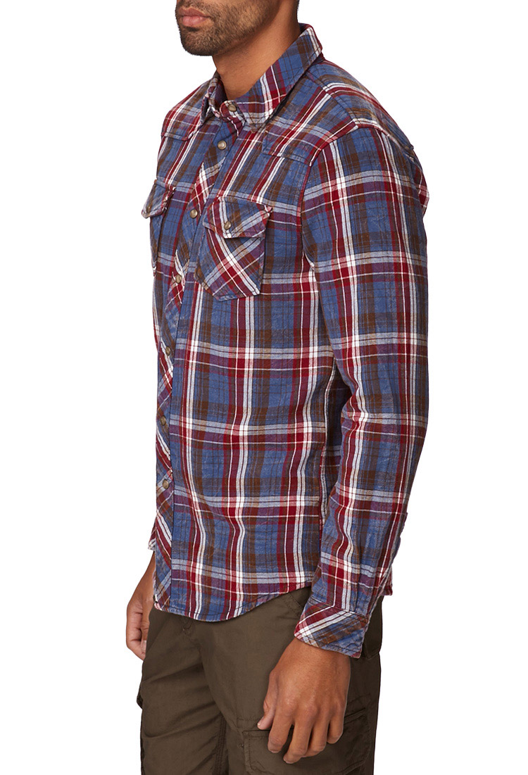 Forever 21 slim fit flannel shirt you 39 ve been added to the for Mens slim fit flannel shirt