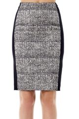 Balenciaga Laceprint Pencil Skirt - Lyst