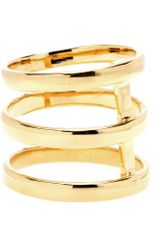 Campbell Tri Bar Goldplated Ring - Lyst