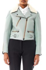 Chloé Leather and Shearling Biker Jacket - Lyst