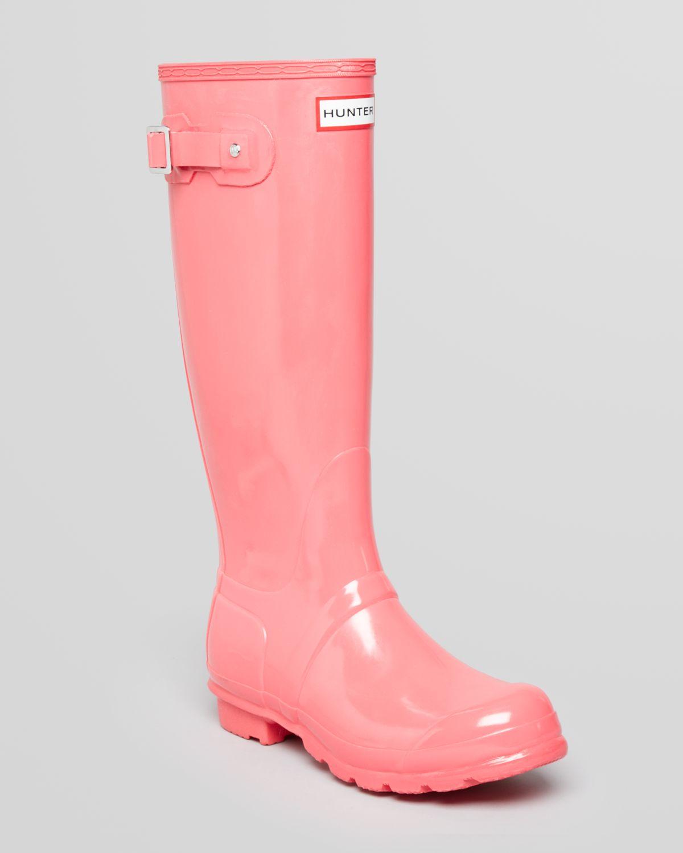 Hunter Rain Boots Original Tall Gloss in Pink | Lyst