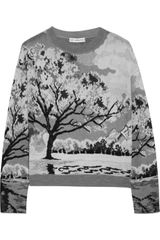 Mary Katrantzou Landscape intarsia Knitted Sweater - Lyst