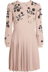 Miu Miu Embellished Cady Dress - Lyst
