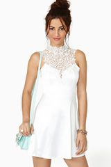 Nasty Gal Tied Crochet Skater Dress - Lyst