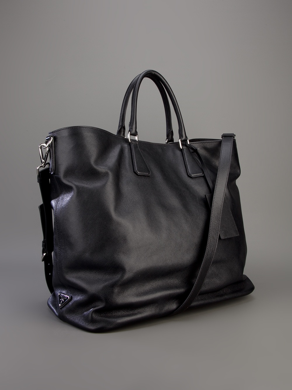 2b54a62ce77d ... discount prada tote bag in black for men lyst d8e9a ff0ce