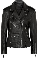 Theory Dalayan Leather Biker Jacket - Lyst