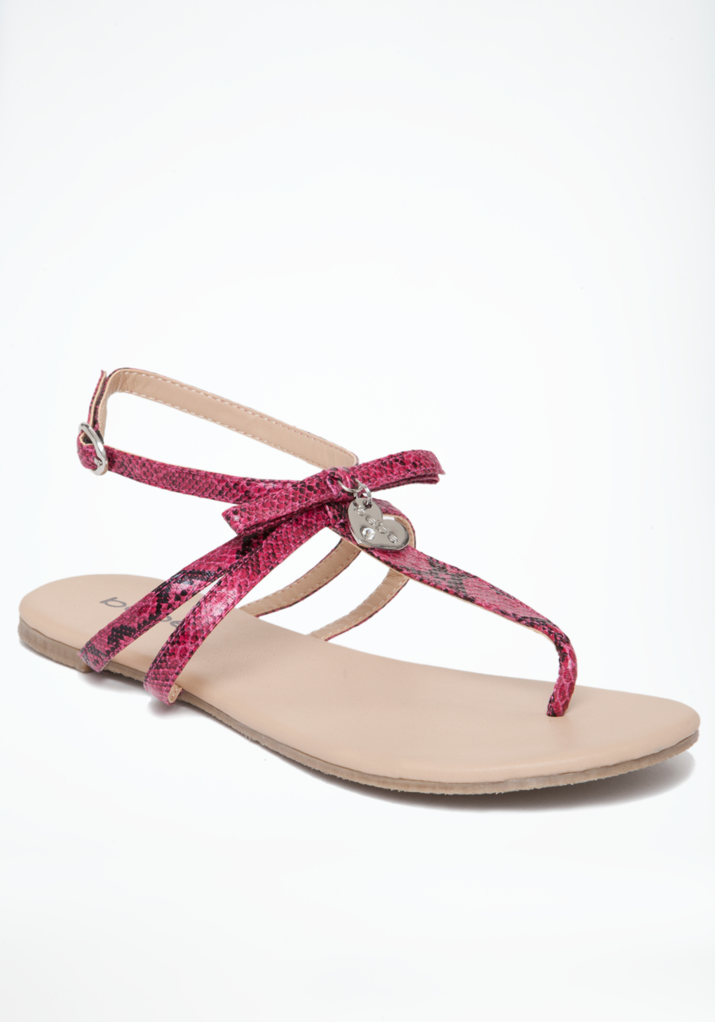 bebe summer flat sandals in pink lyst