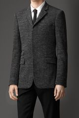 Burberry Slim Fit Mélange Wool Blend Jacket - Lyst