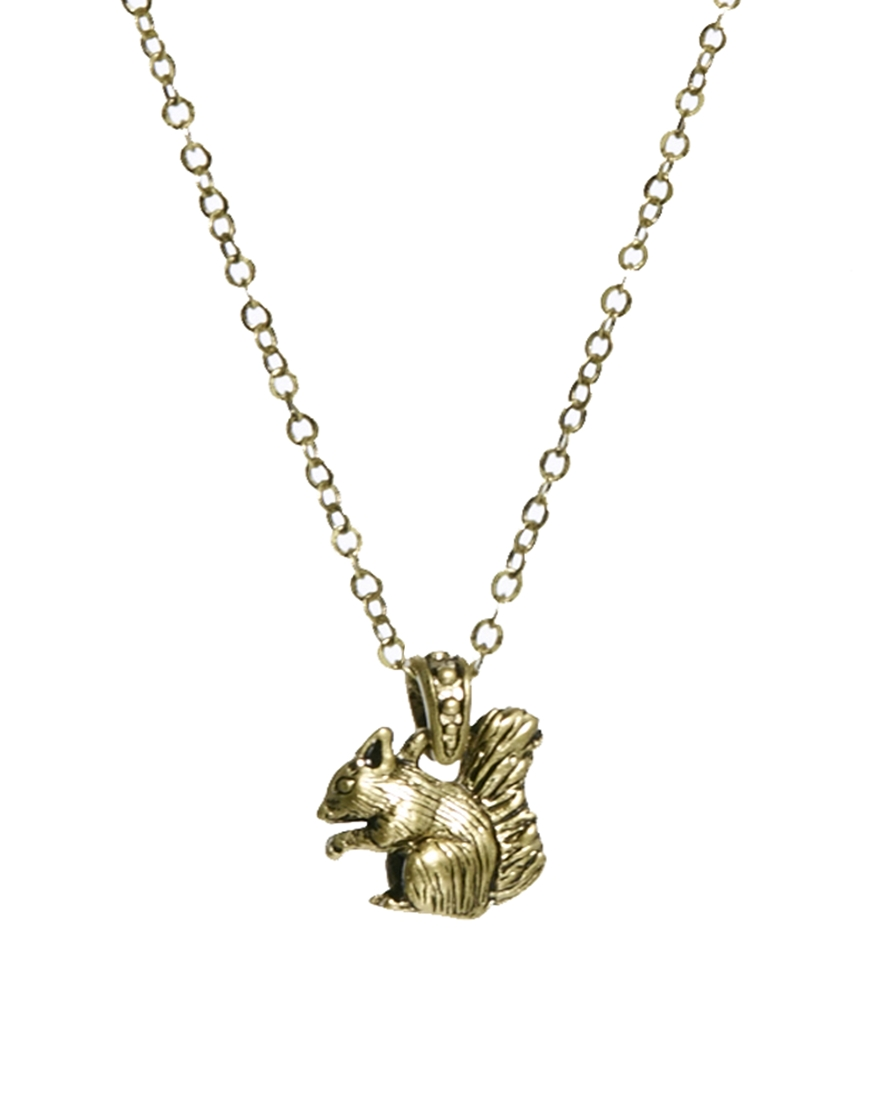 Lyst cath kidston squirrel pendant in metallic gallery aloadofball Image collections