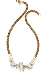 Fallon Jewelry Crystal Chain Choker - Lyst