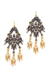 Fallon Jewelry Winged Chandelier Earrings - Lyst